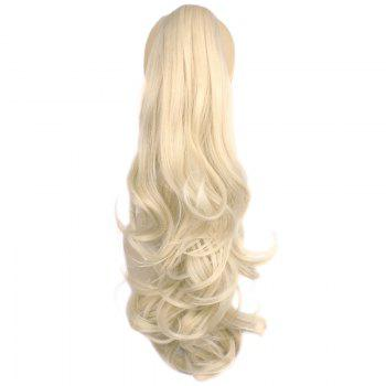 Attractive Fluffy Wave Long Capless Trendy Claw Clip Synthetic Women's Ponytail - PALE BLONDE  613/60# PALE BLONDE /