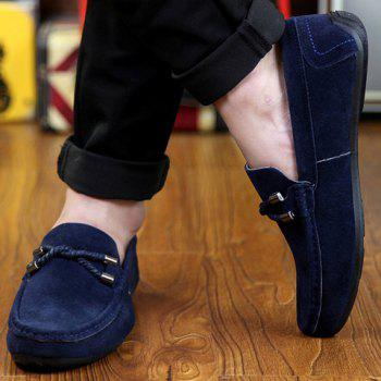 Stylish Criss-Cross and Suede Design Casual Shoes For Men - 42 42