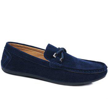 Stylish Criss-Cross and Suede Design Casual Shoes For Men - BLUE BLUE