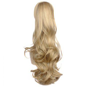 Fluffy Wave Claw Clip Prevailing Heat-Resistant Fibre Deep Blonde Long Women's Ponytail
