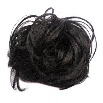 Fluffy Heat Resistant Fiber Prevailing Curly Women's Capless Chignons - 1B#  B