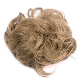 Trendy Chestnut Brown Capless Shaggy Curly Heat Resistant Fiber Women's Chignons