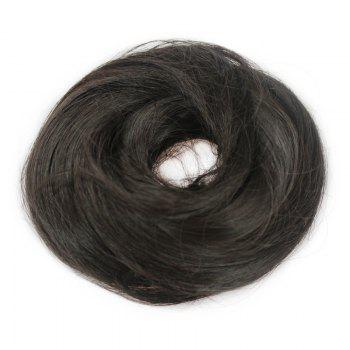Stylish Assorted Color Heat Resistant Synthetic Straight Capless Women's Chignons - BLACK 4A# BLACK A