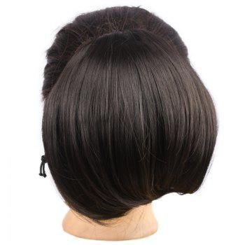 Attractive Assorted Color Capless Stylish Fluffy Synthetic Straight Women's Chignons - 04#