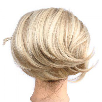 Shaggy Straight Charming Heat Resistant Fiber Fashion Capless Women's Chignons