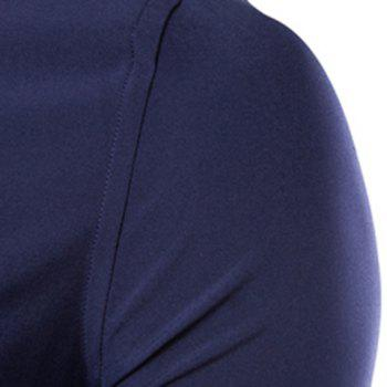 Casual Style Solid Color French Front Slimming Long Sleeves Men's Pin Collar Shirt - 3XL 3XL