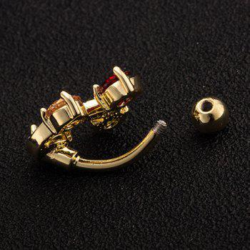 Chic Rhinestone S-Shaped Navel Button For Women - COLORFUL