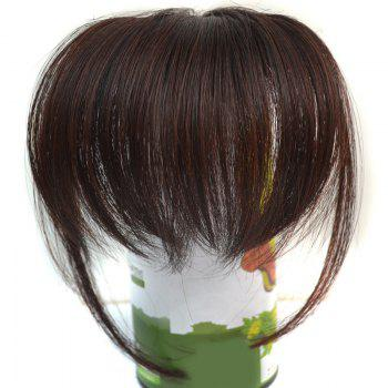 Trendy Ultrathin Capless Stunning Clip In Synthetic Women's Full Bang With Sideburns -  BROWN BLACK MIXED /