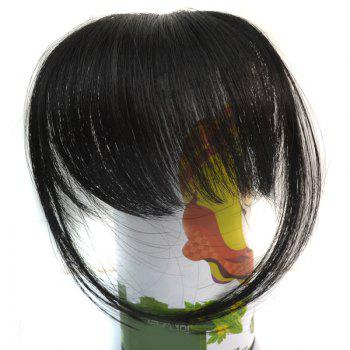 Trendy Ultrathin Capless Stunning Clip In Synthetic Women's Full Bang With Sideburns -  BLACK