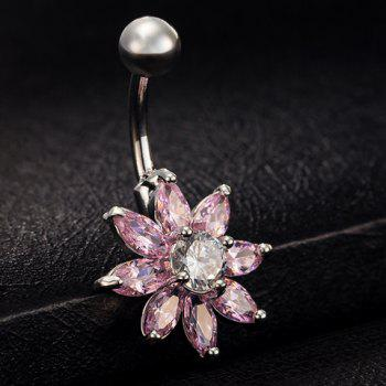 Stylish Rhinestoned Floral Navel Button For Women - RANDOM COLOR