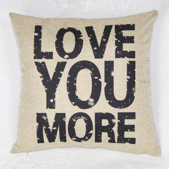 Simple Letter Pattern Linen Decorative Pillowcase (Without Pillow Inner)