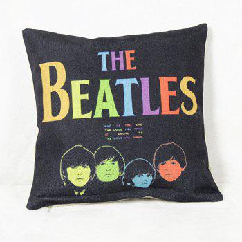 Fashion Square The Beatles Pattern Pillowcase(Without Pillow Inner)