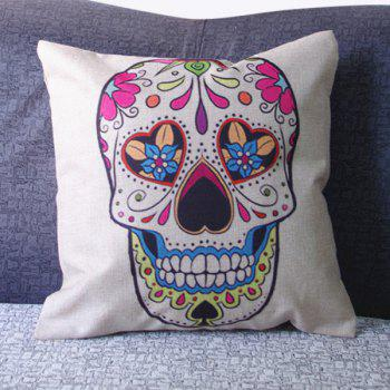Modern Skull Pattern Square Pillowcase(Without Pillow Inner)