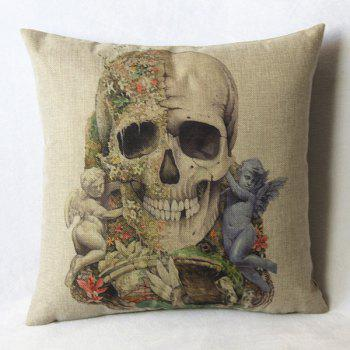 Classical Square Skull Pattern Pillowcase(Without Pillow Inner)
