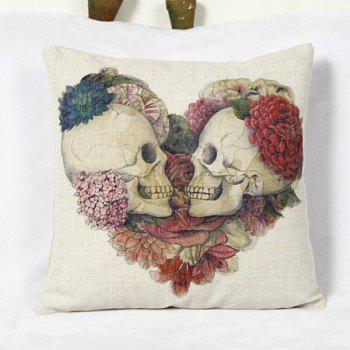 Decorative Pillows Without Covers : 2018 Classical Skull Pattern Square Decorative Pillowcase(Without Pillow Inner) COLORMIX In ...
