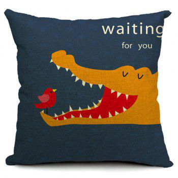 Creative Crocodile Pattern Simple Pillow Case (Without Pillow Inner)