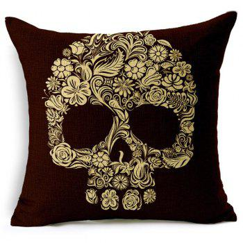 Stylish Colorful Skull Pattern Square New Pillow Case(Without Pillow Inner) - RANDOM COLOR PATTERN