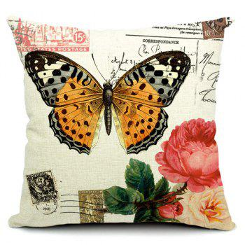 Fashionable Butterfly Pattern Printed Square Pillow Case(Without Pillow Inner)