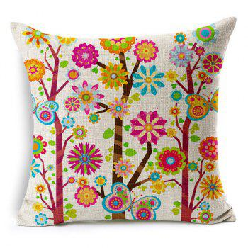 Fresh Floral Pattern Pillow Case (Without Pillow Inner)