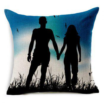 Simple Novelty Lovers Pattern Pillow Case (Without Pillow Inner) - RANDOM COLOR PATTERN