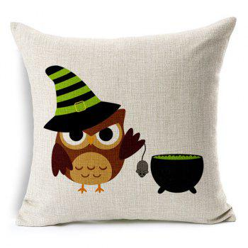 Simple Creative Owl Pattern Pillow Case (Without Pillow Inner)