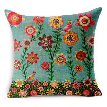 Chic Bird and Tree Pattern Pillow Case (Without Pillow Inner)