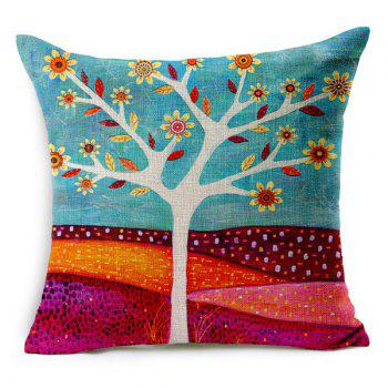 Chic Bird and Tree Pattern Pillow Case (Without Pillow Inner) - RANDOM COLOR PATTERN