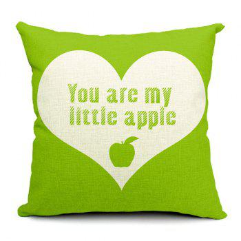 Simple Modern Style Apple Pattern Pillow Case (Without Pillow Inner) - RANDOM COLOR PATTERN