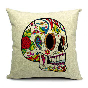Modern Style Simple Skull Pattern Pillow Case (Without Pillow Inner) - RANDOM COLOR PATTERN