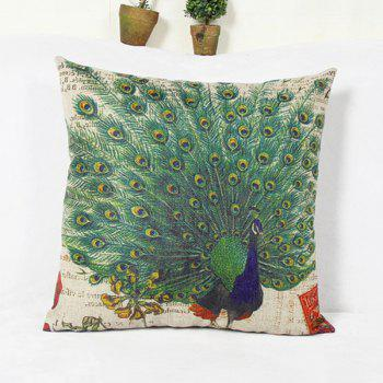 Contemporary Peacock Pattern Home Hold Decorative Pillow Case