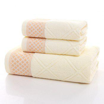 Simple New High Quality Soft Argyle Pattern Towels Bath Gift