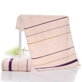 Simple New High Quality Soft Striped Face Towel Hand Towel - ORANGE ORANGE