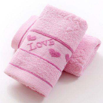 Fashionable Heart Pattern Solid Color Brand New Soft Absorbent Cleansing Cloths Face Towel - PINK PINK