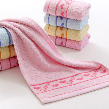 Fashionable Heart Pattern Solid Color Brand New Soft Absorbent Cleansing Cloths Face Towel -  PINK