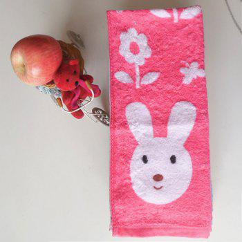Buy Comfortable Brand New Cotton Bunny Print Soft Absorbent Cleansing Cloths Hand Face Towel RANDOM COLOR