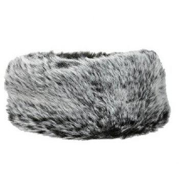 Chic Women's Open Top Faux Fur Winter Downy Trapper Hat - GRAY GRAY