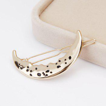Delicate Moon Hairgrip For Women - GOLDEN