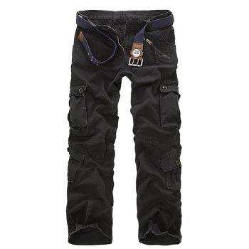 Multi Pockets Zipper Fly Military Cargo Pants