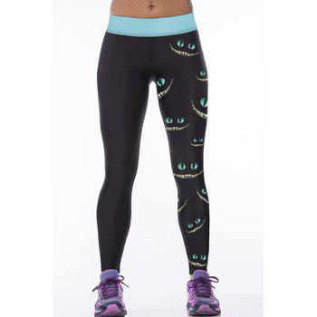 Leggings Yoga Mode Femme Imprimé Yeux Ultra Stretchy