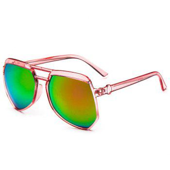 Chic Candy Color Transparent Frame Women's Sunglasses -  PINK