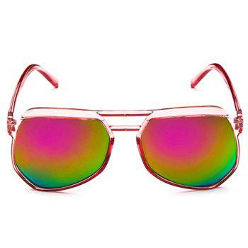 Chic Candy Color Transparent Frame Women's Sunglasses - PINK PINK