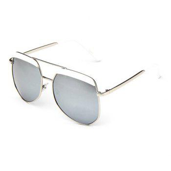 Chic Big Alloy Frame Outdoor Driving Women's Sunglasses - RANDOM COLOR PATTERN