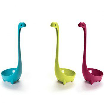 High Quality Solid Color Loch Ness Monster Shape Plastic Spoon