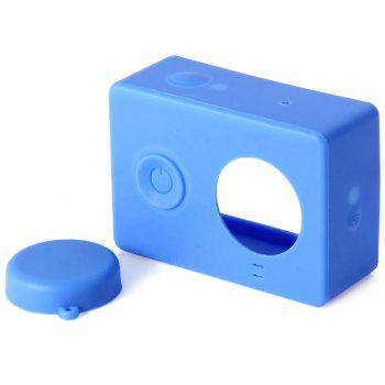 Silica Gel Protective Case with Lens Cover for Xiaomi Yi Action Camera