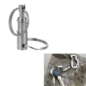 Outdoor Detachable Double Side Key Ring Keychain