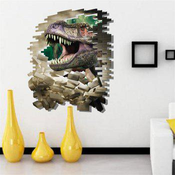 3D Dinosaur Style Removable Wall Stickers Colorful Room Window Decoration for Bedroom Store