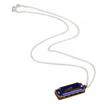 Cute Swan Necklace Style Mini Harmonica 4 Hole 8 Tone -  BLUE