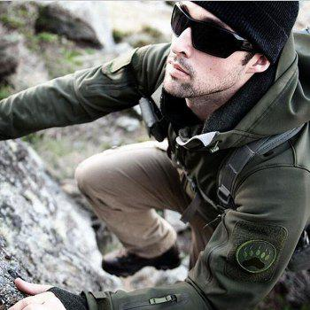Windproof Warm Softshell Mountaineering Jackets with TAD Sharkskin - GREEN GREEN