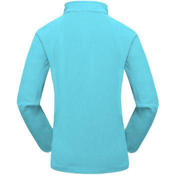 Umove Outdoor Polar Fleece Sweatshirt Warm Soft Anti-pilling for Autumn Winter - BLUE WOMAN BLUE WOMAN