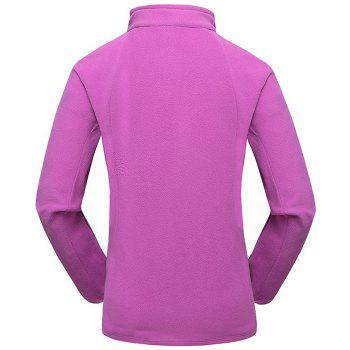 Umove Outdoor Polar Fleece Sweatshirt Warm Soft Anti-pilling for Autumn Winter - PURPLE WOMAN PURPLE WOMAN